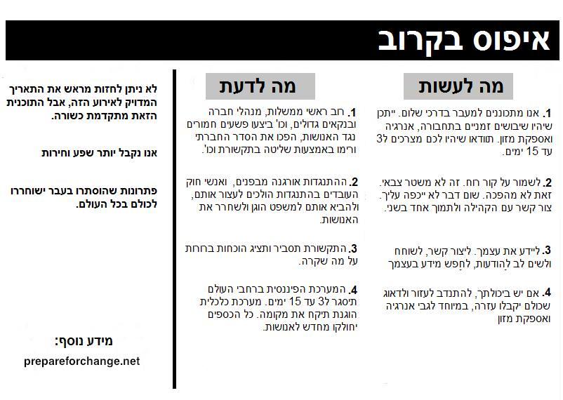 pamphlet hebrew